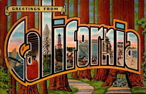 Postcard large letters greetings from california ec knopp ebay image is loading postcard large letters greetings from california e c knopp m4hsunfo