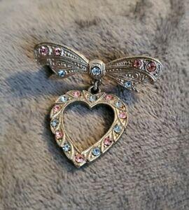 vintage-bow-heart-sweetheart-brooch-silvertone-brooch-blue-pink-stones