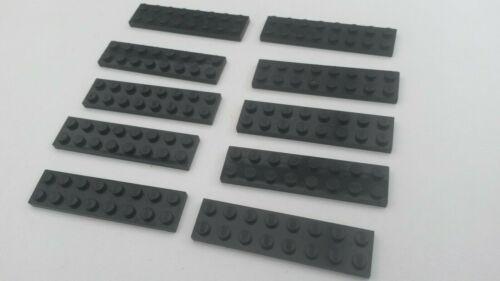 10x Black Lego 2 x 8 Flat Plates B320 used Condition