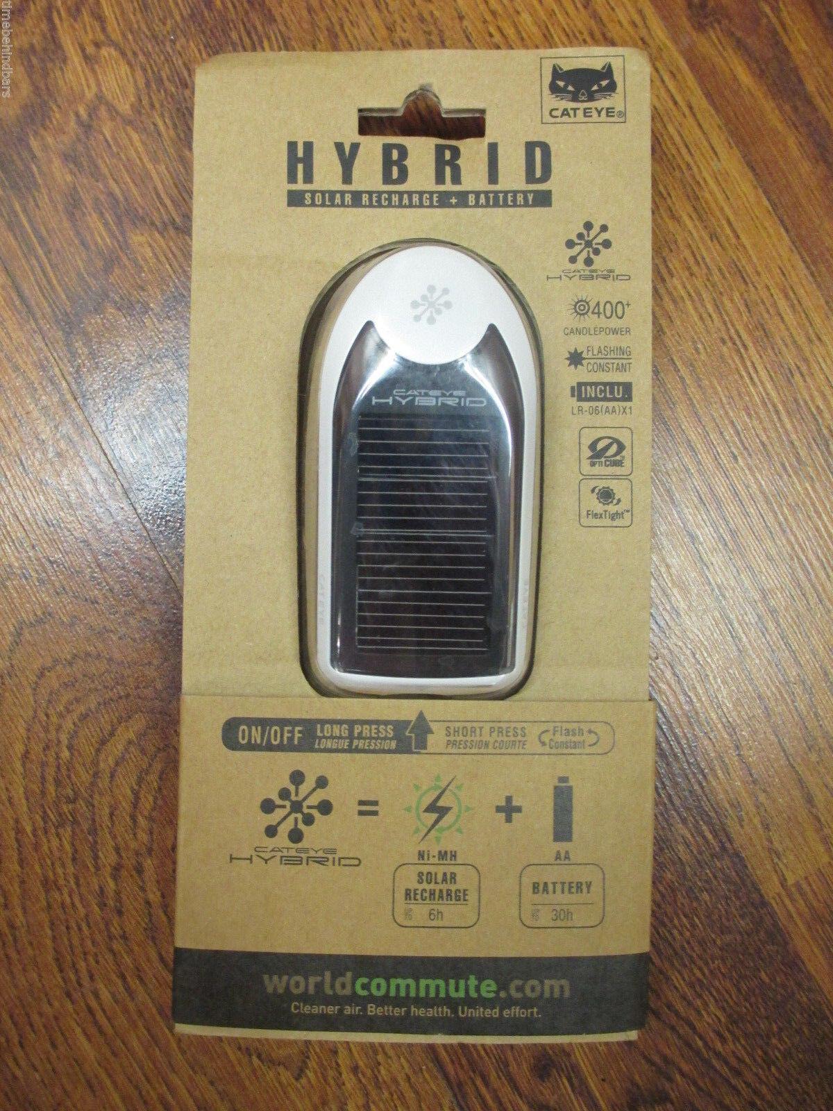 CATEYE HYBRID SOLAR RECHARGE & BATTERY HEAD LIGHT WHITE HL-EL020