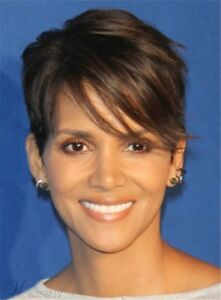 Halle Berry Pixie Boy Cuts Short Layered Hair One Side Part Straight