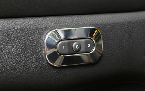Chrome Door Seat Memory Button Cover Trim 1pcs for Jeep Grand Cherokee 2011-2018