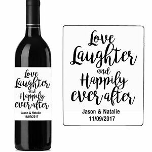 Wedding Wine Bottle Labels | 130mm X 100mm Personalised Wedding Wine Bottle Label Stickers Tables
