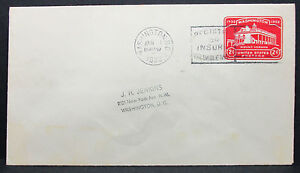 US-Postal-History-Stationery-Cover-FDC-Washington-Index-Stamp-GS-Letter-H-6841