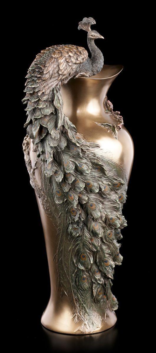Estilo Moderno Flores Vase - Pavo Real - Veronese Pájaro Garrafa Noble