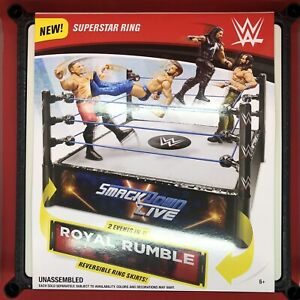 Details about WWE Superstar Ring W/ Smackdown Live - Royal Rumble 2 in 1 Reversible Ring Skirt