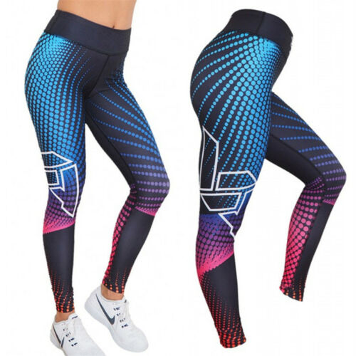 UK Women Sports Yoga Pants Leggings Running Gym Athletic Workout Trouser Ladies