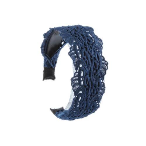 2x Spitze Haarreif Damen Breit Haarband Stirnband Haarreifen Haarschmuck