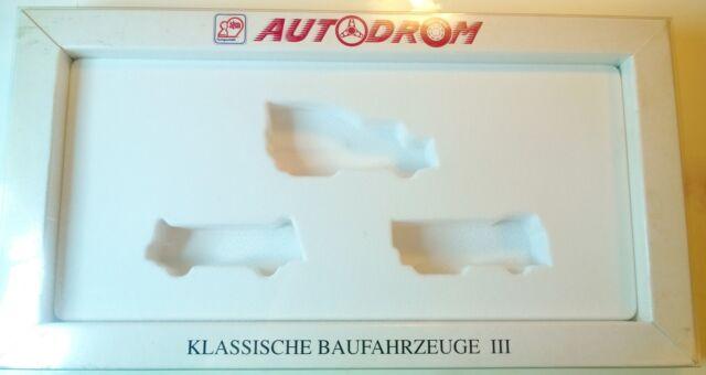 WIKING 990 16 AUTODROM Klassische Baufahrzeuge III Set leere Box Schachtel
