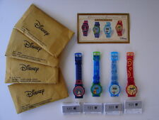 Disney 2004 Digital Watches by SII; Mickey Mouse Donald Duck Goofy Winnie W/COA