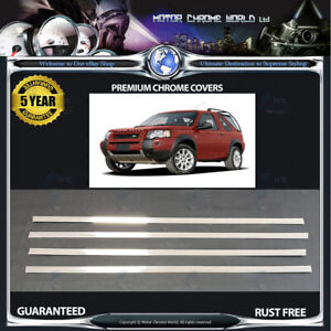 FITS-TO-LANDROVER-FREELANDER-CHROME-WINDOW-TRIM-COVERS-5y-GUARANTEE-97-06-OFFER