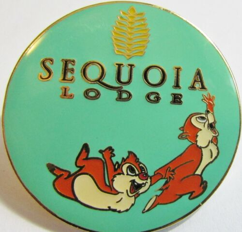 Disney Disneyland Paris Hotel Sequoia Lodge Logo Chip and Dale Pin