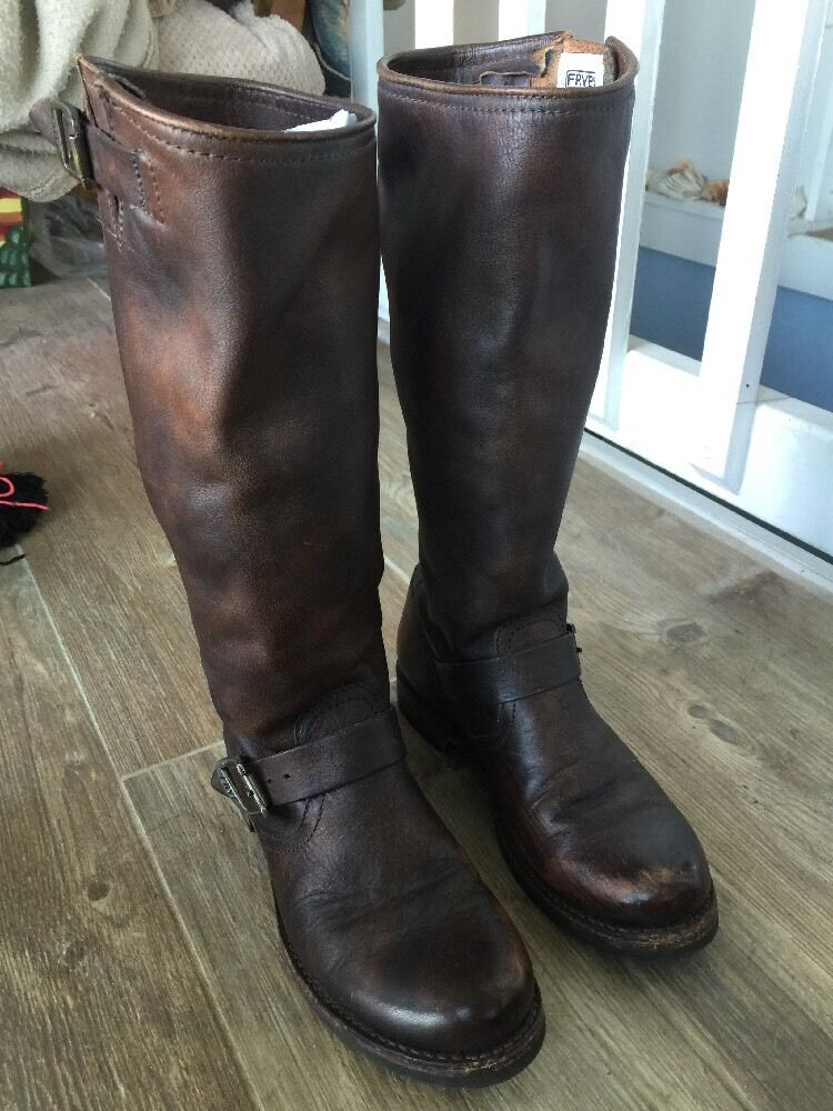 Frye Veronica Slouch braun Leather Stiefel 7B