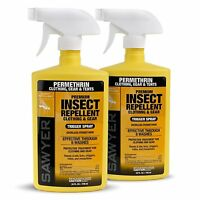 2 Pack - Sawyer Premium Clothing Insect Repellent Odorless Spray 24 Oz.