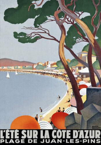 Tt50 Vintage Cote d/'Azur Riviera Francesa viajar Cartel a3//a2 volver a imprimir