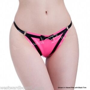 26 in £ Rrp Fetish large Rosa X Perizoma nero 42 lattice Perizoma Vib R1654 Hx5POn6qg