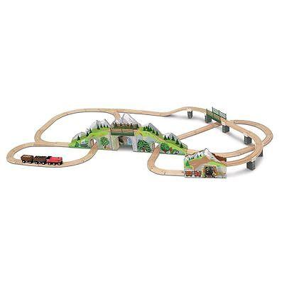 Melissa & Doug Mountain Tunnel Wooden Train Set