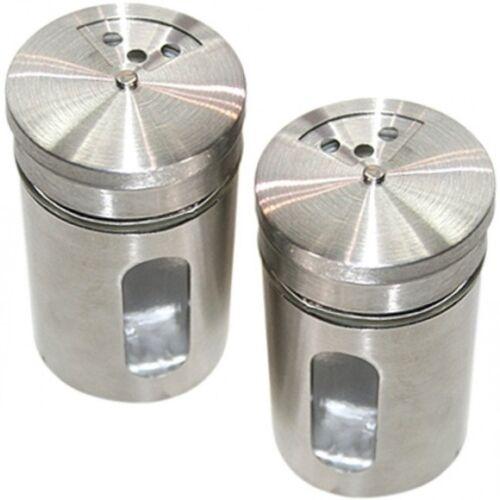 5x Gewürzstreuer-Set Streuer edle Aromabehälter aus Glas und Edelstahl 8,5x5x5cm