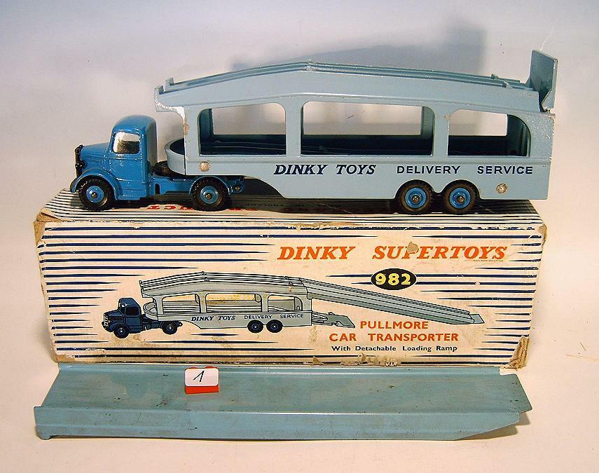 DINKY TOYS SUPERTOYS 982 Pullmore Car transporteur avec rampe de chargement en O-Box  001