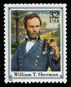 #2975q 32c William T Sherman, Nuevo Cualquier 5=