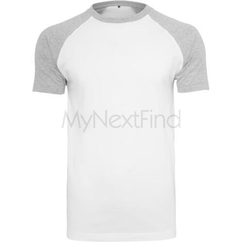 Build your Brand Raglan Contrast T-Shirt