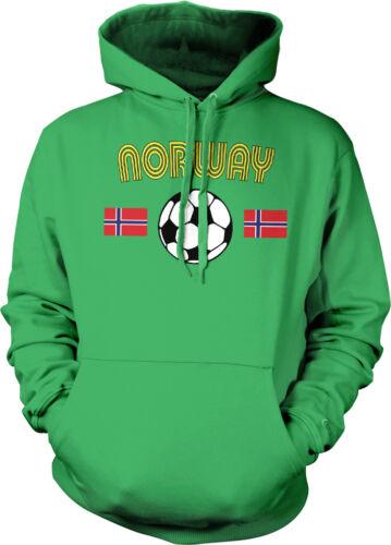 Norwegian European National Soccer Team  Norges herrelandslag Hoodie Pullover