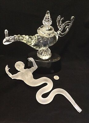 Warren Hooper Studio Art Glass Genie & Lamp Sculpture c.1992.          *2993