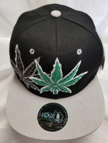Marijuana Snapback Hat Cannabis Pot Leaf Sweatleaf Kush Weed Hat Flat Bill
