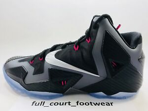 more photos e4b89 6b78d Image is loading Nike-Lebron-XI-11-Miami-Nights-Carbon-Fiber-