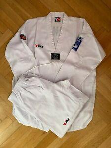KIX-Philippinischer-Taekwondo-Dobok-Anzug-Gr-190-weisser-Kragen