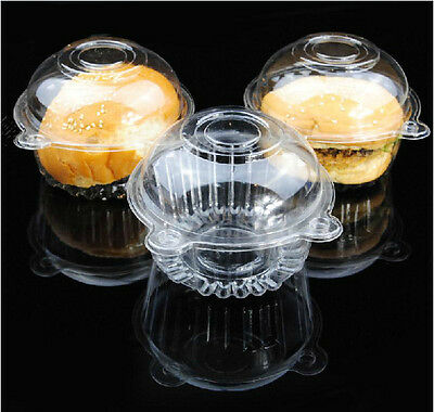HS88 50p/set Clear Plastic Single Cupcake Muffin Case Pods Domes Cup Cake Boxes