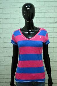 Maglia-Blusa-Donna-US-POLO-ASSN-Taglia-M-Maglietta-Shirt-Woman-Jersey-femme-Blu