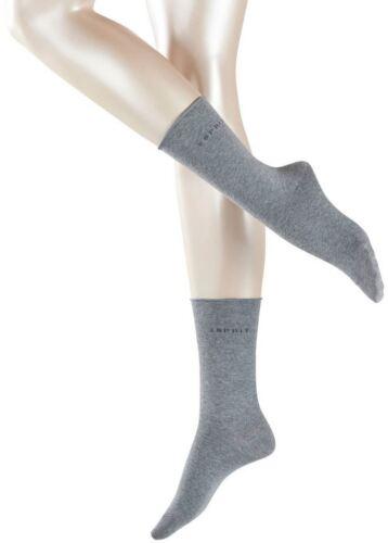Light Grey Esprit Womens Basic Pure 2 Pack Socks