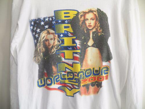 Vintage BRITNEY SPEARS 2001 The Britney World Tour Large Pop Concert L/S T-Shirt