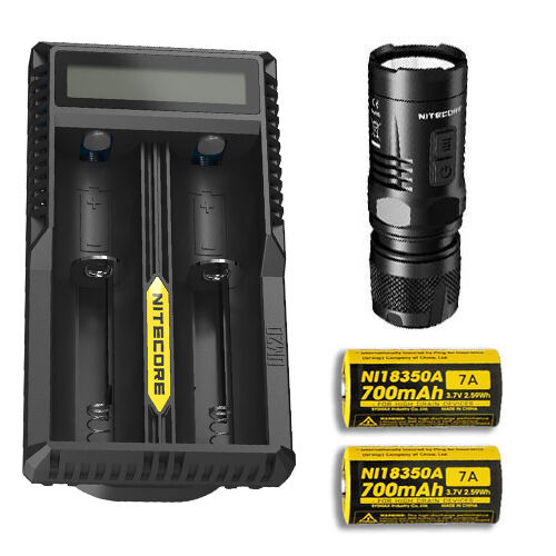 Nitecore EC11 Flashlight  900 Lumens  -w  18350 Battery & UM20 Charger  promotional items