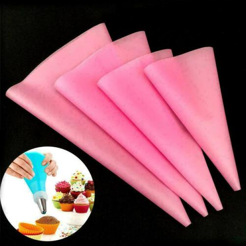 Silicone Reusable Icing Piping Cream Pastry Bag Cake Gift K3Y7