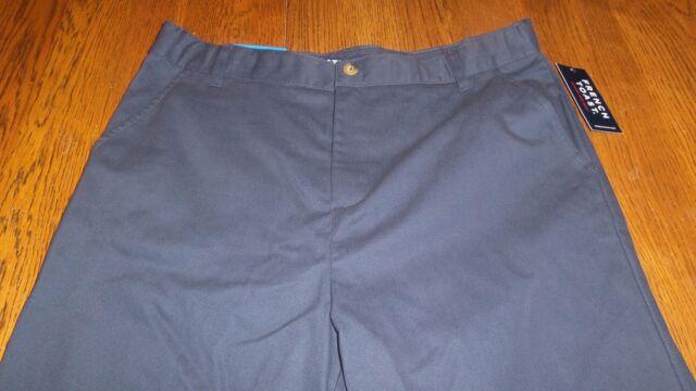 Boys School Uniform Pants New Size 4-16 Regular /& Husky Flat Front Style NWT NEW
