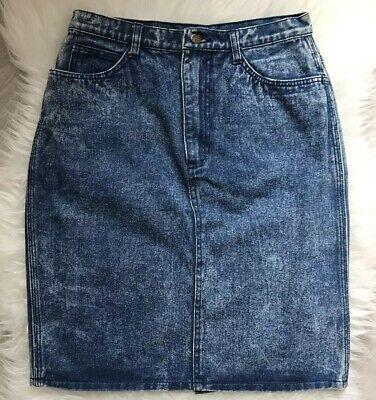 Gonna A Tubino Vintage Denim Blu Acido Wash Jean Gonna Marca Minori Piccolo/medio-mostra Il Titolo Originale Per Godere Di Alta Reputazione Nel Mercato Internazionale