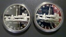 1984 $1 Canada TORONTO Proof Silver Dollar