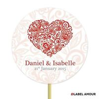 20 PERSONALISED Cup Cake Toppers | Wedding Engagement | Cake Decoration - Lathey