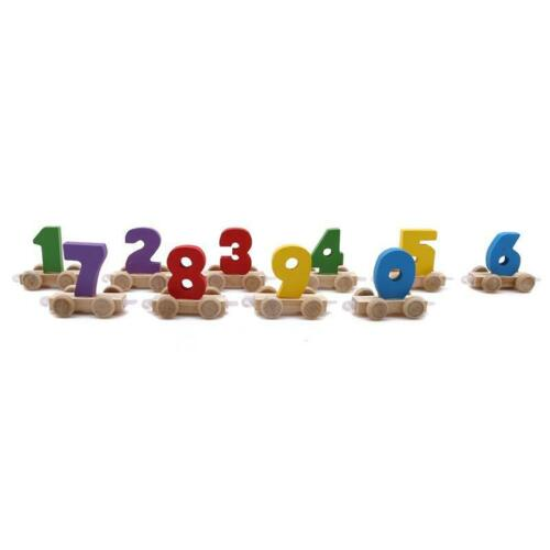 Train Shaped Wooden Toys Learning Number Children Equipment Learning Education Q