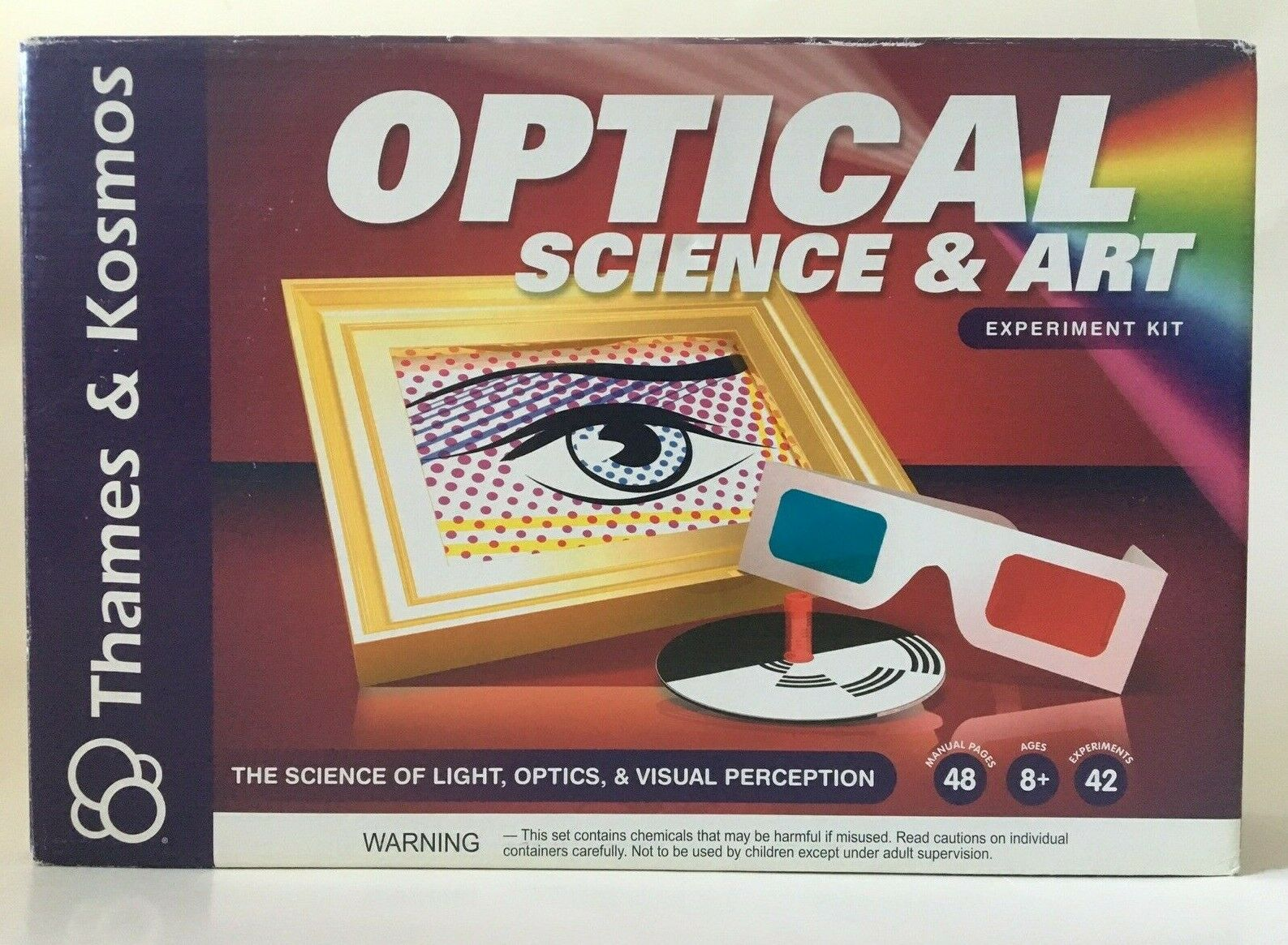 OPTICAL SCIENCE & ART EXPERIMENT KIT EDUCATIONAL STEM TOY THAMES & KOSMOS -NEW!! 2