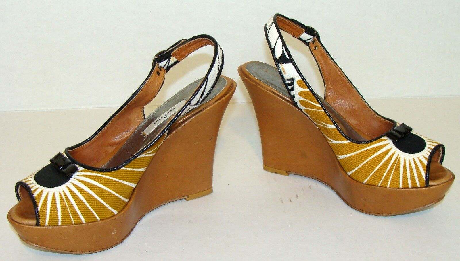 BY MALENE BIRGER TAN SLINGBACK WEDGE SANDALS SHOES SHOES SANDALS SIZE 40 / US 10  A131 b29786