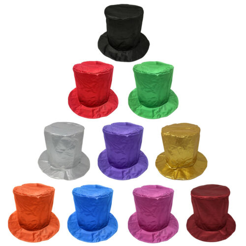 PARTY BIRTHDAY COSTUME NEW YEAR/'S Adult Shiny Blue Top Hat ~ FUN HALLOWEEN