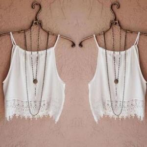 Fashion-Womens-Summer-Lace-Tops-Short-Sleeve-Blouse-Tank-Tops-Tee-Beach-T-Shirt