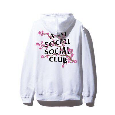 NIP Anti Social Social Club Cherry Blossum White Hoodie NWT DS Hooded Sweatshirt