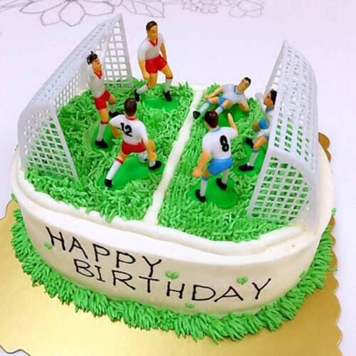 8pcs Soccer Football Cake Topper Player Birthday Mold Set Decoration Tool