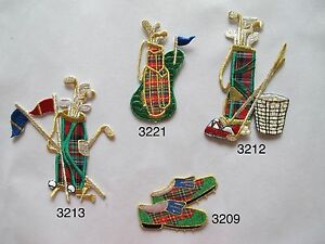 Golf-Bag-Golf-Club-Golf-Shoe-Flag-Embroidery-Iron-On-Applique-Patch