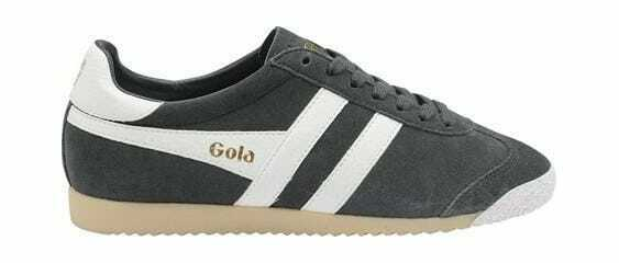 Men's Gola Harrier Suede Sneaker Light Grey White Suede