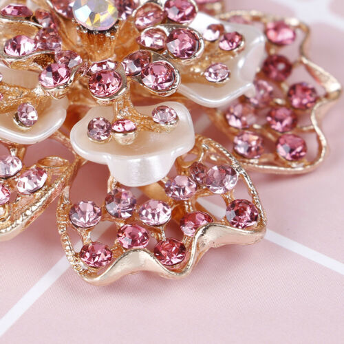 1Pc Rhinestone women crystal shoe clip decor girls shoes charm clip buckle EF